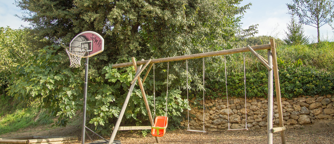 Children's play area;  swings and slide
